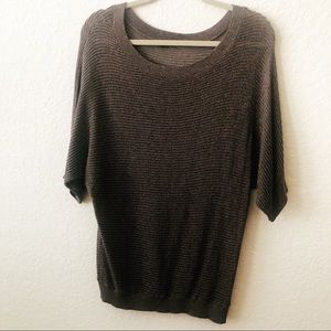 EXPRESS SLOUCHY BROWN AND GOLD SWEATER